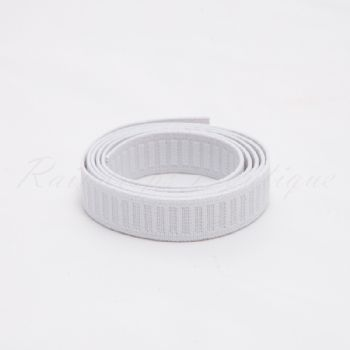 White Non Roll Elastic by the Metre 25mm